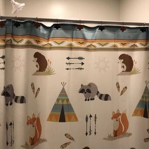 Other - Woodland Critters Shower Curtain and accessories